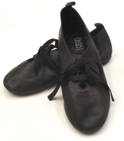 Roseris《ソフトシューズ》マットカラーの黒&ベージュ・柔らかな革、裸足感覚の靴画像