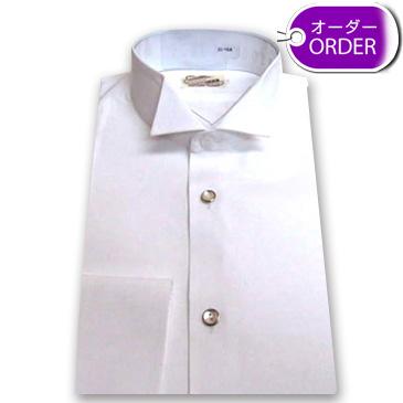 指揮者・演奏家用のイカ胸シャツ(布襟/ボタン付)【オーダー品】画像