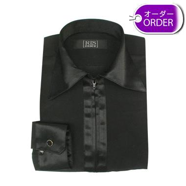 RIS(子供用) レオタードシャツ(国産) 襟・前立て・カフスがサテンオーダー画像