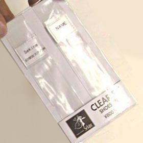 透明ビニール シューズベルト(sekine クリアフィット)金属の止め具無画像