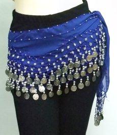 ベリーダンス用 基本のヒップスカーフ(ピンクは完売、ブルーのみ販売)画像