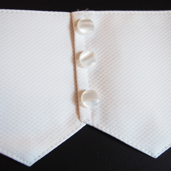 タカダンス(クリスアン) 燕尾服用アジャスター式カマーバンド(ピケ織り風・ゴムベルト式)画像