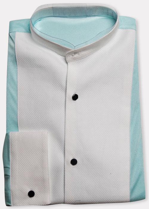 RISオリジナル ツートンカラーのイカ胸シャツ (長袖・レオタードシャツ)40−82 (特価) 画像