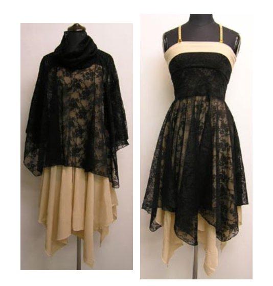 黒のレースの3WAYドレス(工夫次第で使い方色々!)画像