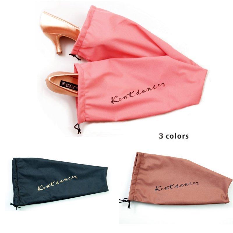 ケント オリジナルシューズ袋(男女兼用の布製の靴袋)ピンク・ブラック・ブラウン画像
