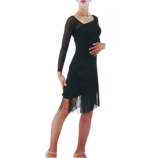 タカダンス・裾のフリンジが揺れるラテンドレス画像