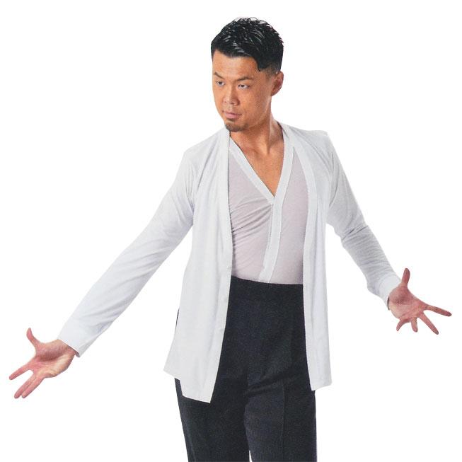 タカダンス メンズ  メッシュ ラテンシャツ  MS316画像