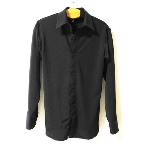 RISオリジナル [オーバーブラウス シャツ]ツーウェイのストレッチ素材・シャツカラー画像