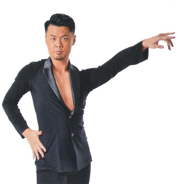 タカダンス メンズ  ラテンシャツ・ジャケット  MS218S画像