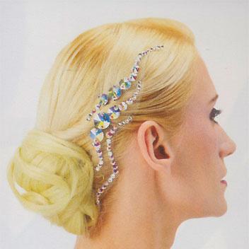 ヘアーモチーフ(ピンで留める、ラインストーンの髪飾り)画像
