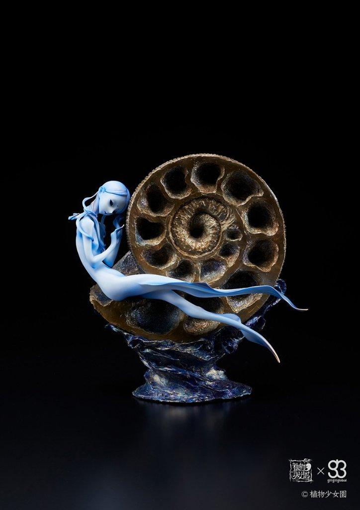 黄鉄鉱化したアンモナイト 青色(塗装済み完成品)の画像