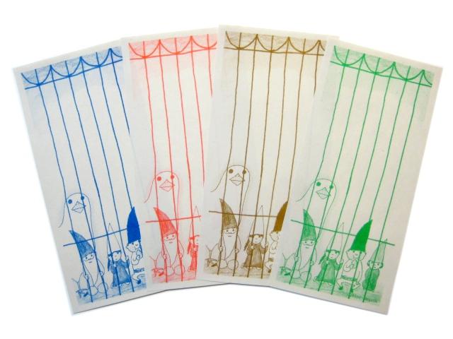 出口かずみ / 一筆箋「鳥と小人たち」 ※8枚入り画像
