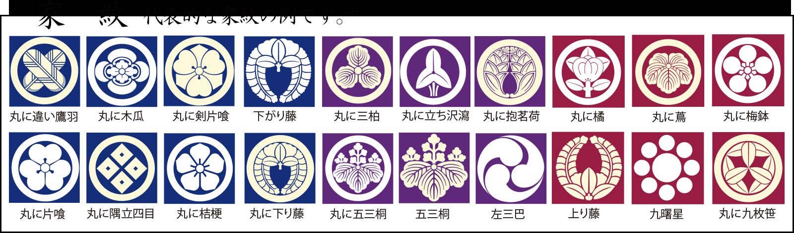 代表的な家紋