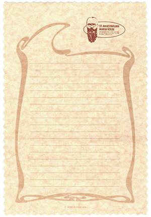 レターセット・コルベ神父画像
