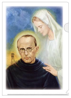 クリアファイル・聖マリアと聖コルベ画像