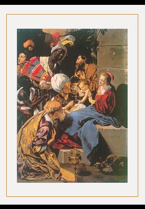 クリスマスカードG(博士たちの礼拝)の画像