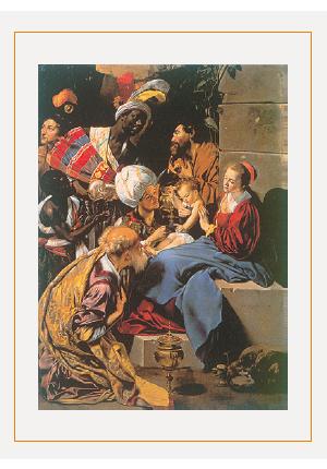 クリスマスカードG(博士たちの礼拝)画像