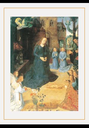クリスマスカードH(羊飼いの礼拝)の画像