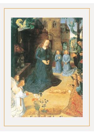 クリスマスカードH(羊飼いの礼拝)画像