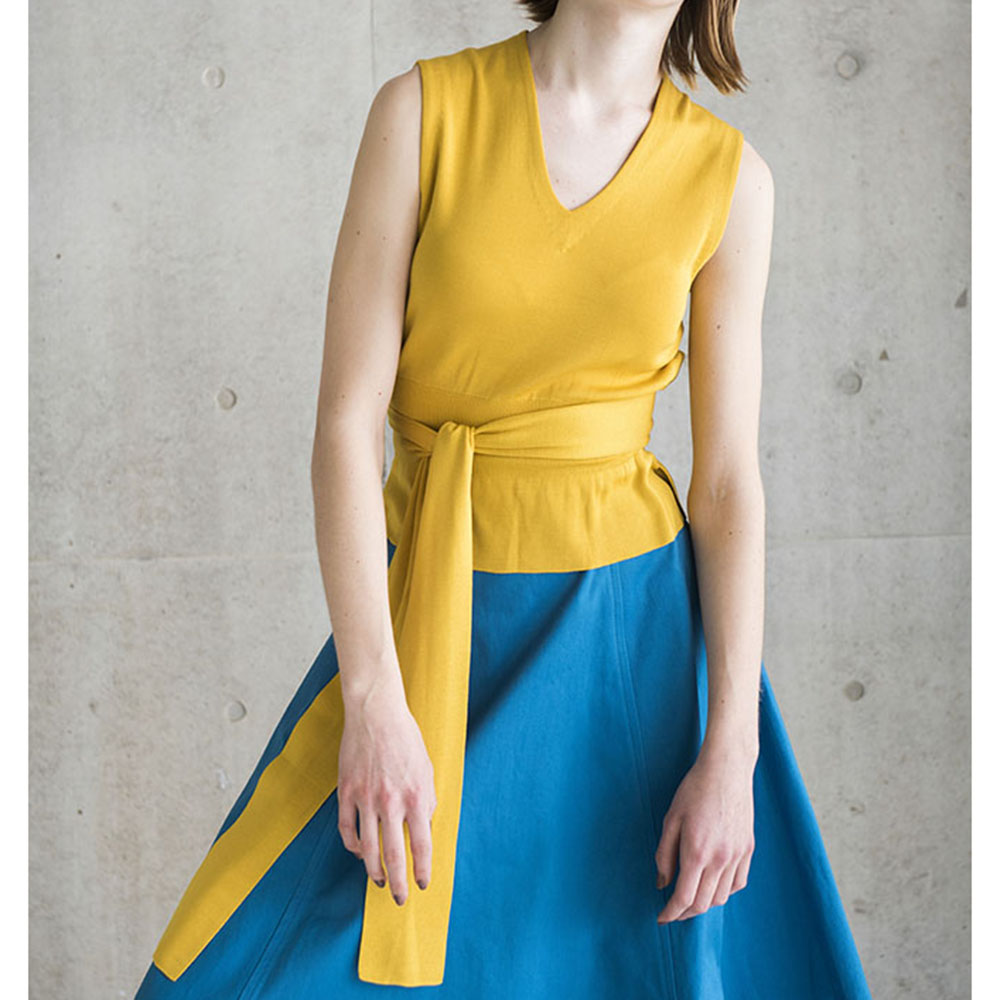MIa-V neck yellow(全4色)の画像