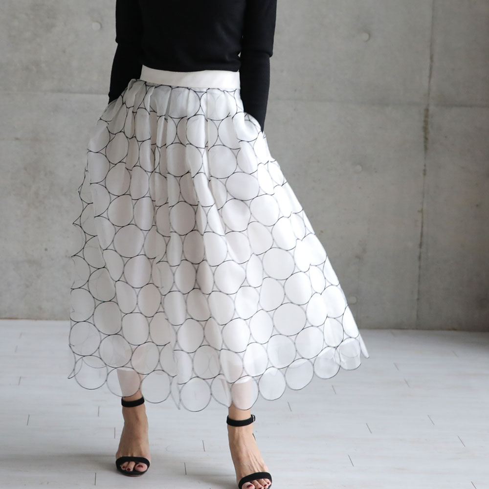 Anna circle dot white (全2色)画像