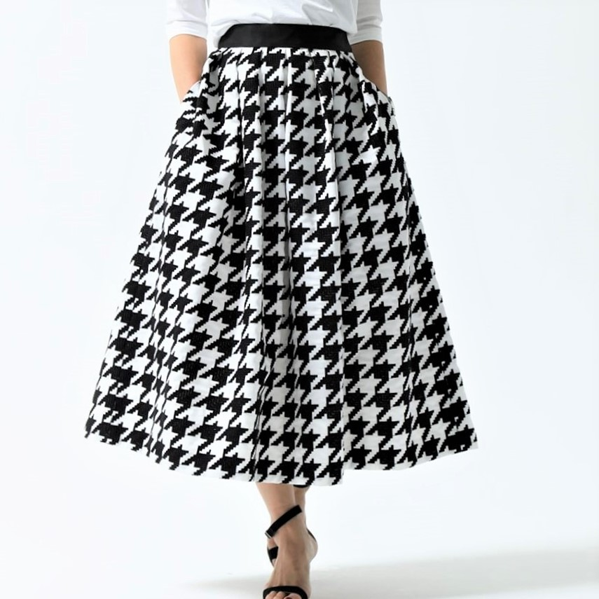 Anna houndstooth white/black(全2色)画像