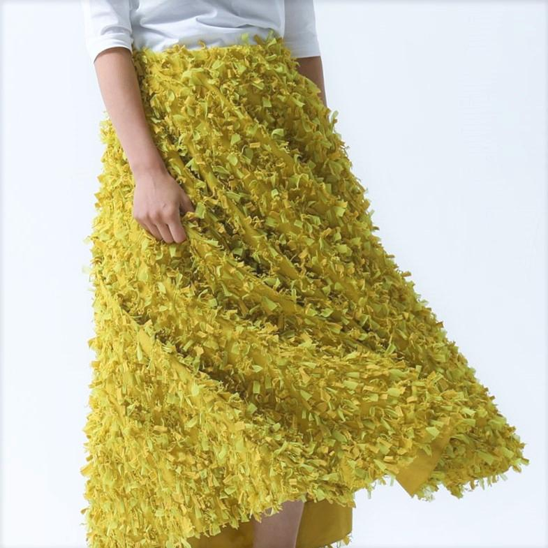 Elliy feather yellow画像