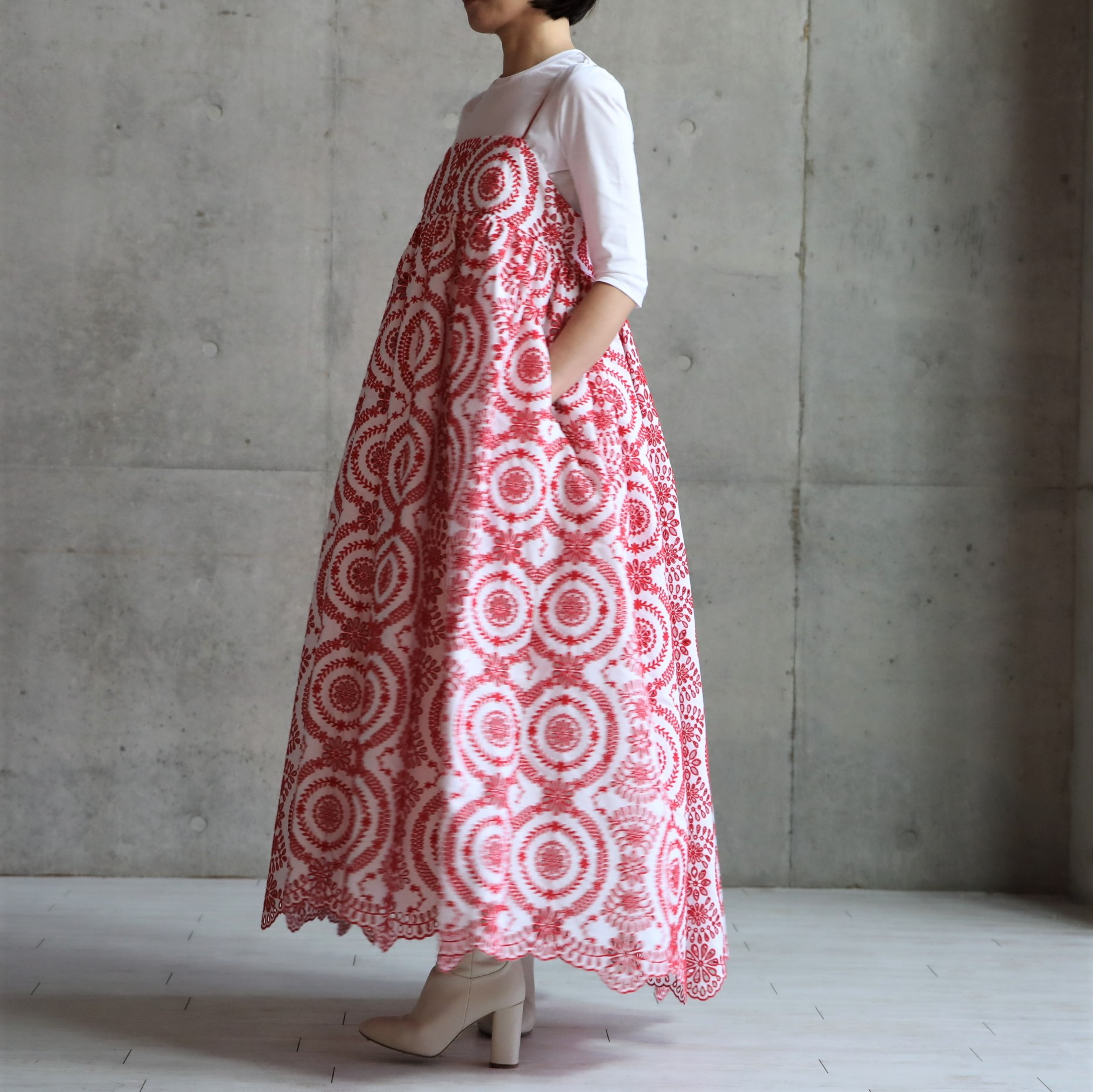 Cocco embroidery Red画像