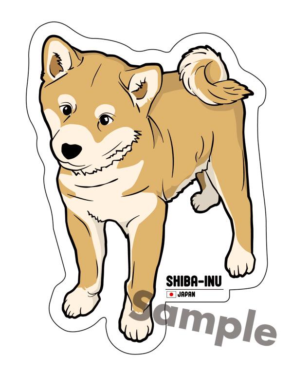 柴犬 ステッカーの画像