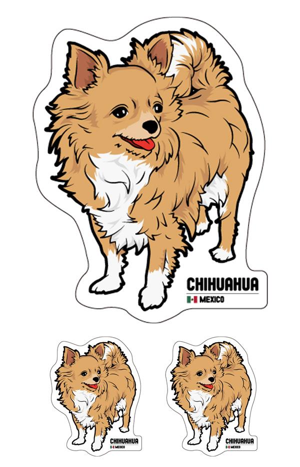 チワワ_1 ステッカー+シール セット画像