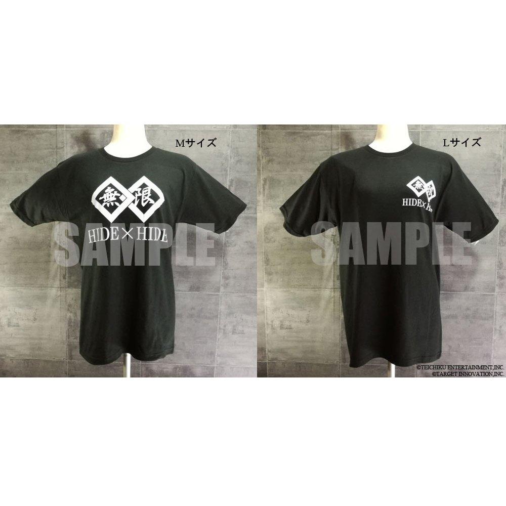 『無限』ロゴ入りTシャツ/HIDE×HIDEの画像