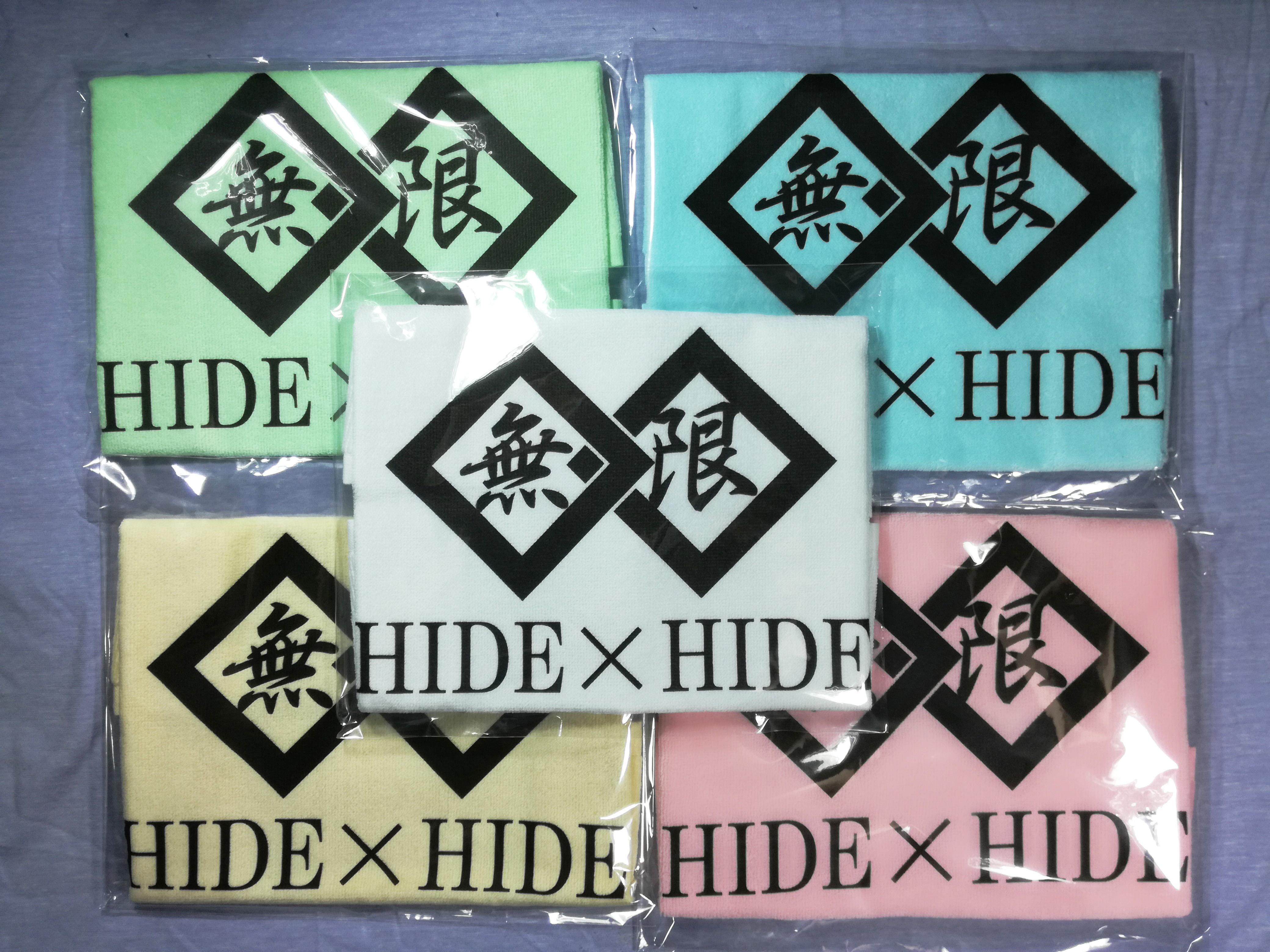 『無限』ロゴ入りハンドタオル/HIDE×HIDE画像