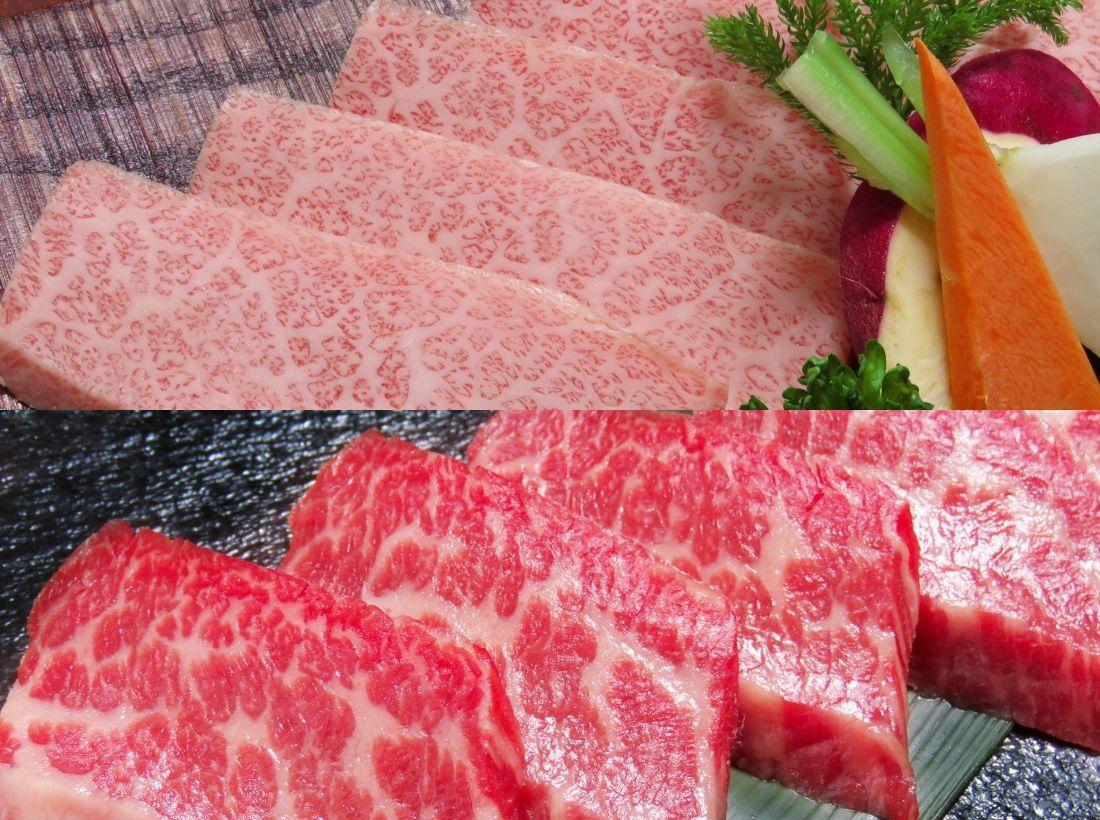 米沢牛焼肉 霜降りカルビ&赤身カルビのセット画像