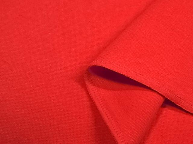 はぎれ ストレッチ フライス ニット生地 31cmX34cm レッド赤色 664の画像