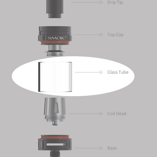 【TFV8 Baby Tank(3ml用) 交換ガラス】SMOKの画像