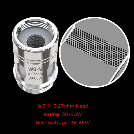 【WS-M 0.27ohm ※SINUOUS V80+Amor Kit 用コイル】WISMECの画像