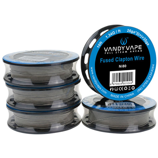 【Ni80 Superfine MTL Fused Clapton Wire】VANDY VAPEの画像