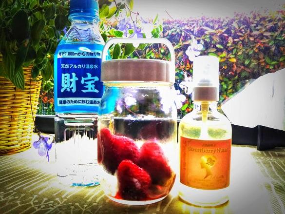 酵母水マイスター向けセット限定15名様、ストロベリーウォーター+無農薬イチゴ酵母水作成キット画像