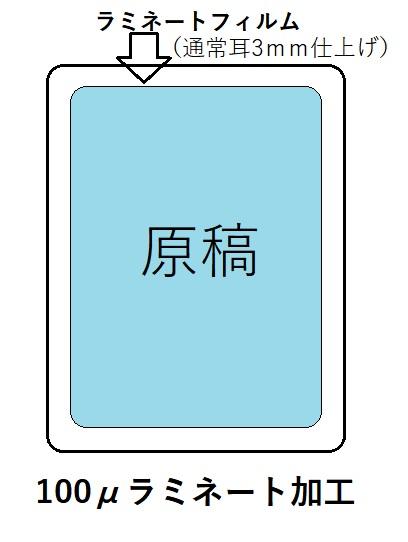 パウチ(ラミネート加工)100μA4の画像