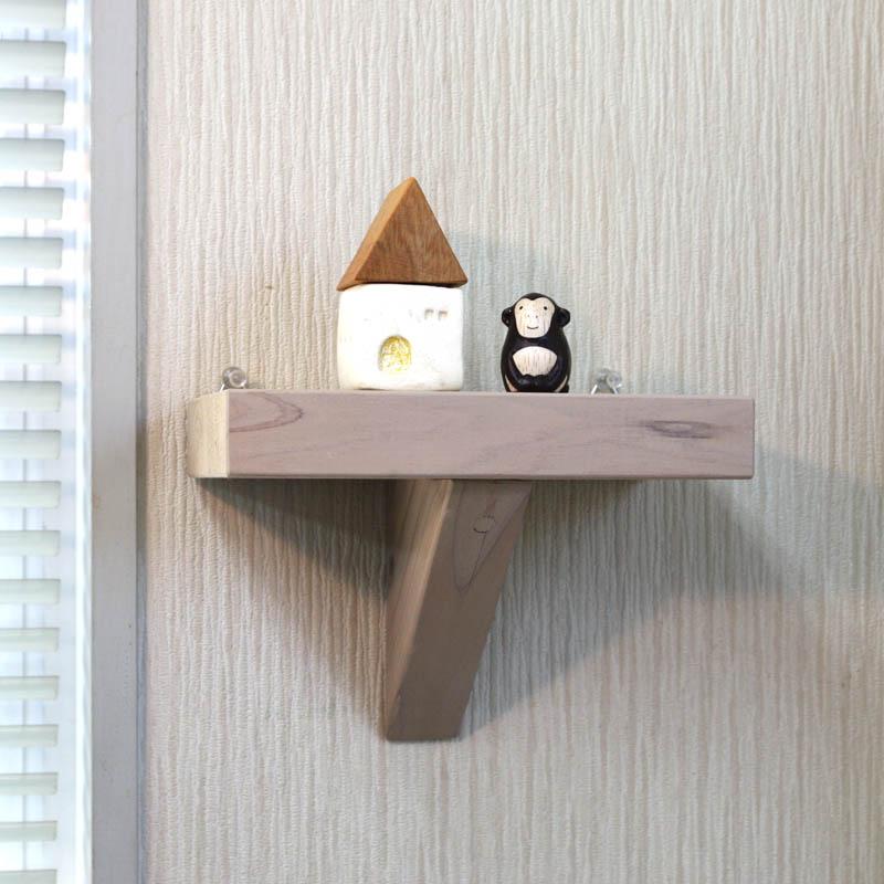 壁掛け飾り棚(ウォールシェルフ)◇国産杉 幅200mm画像