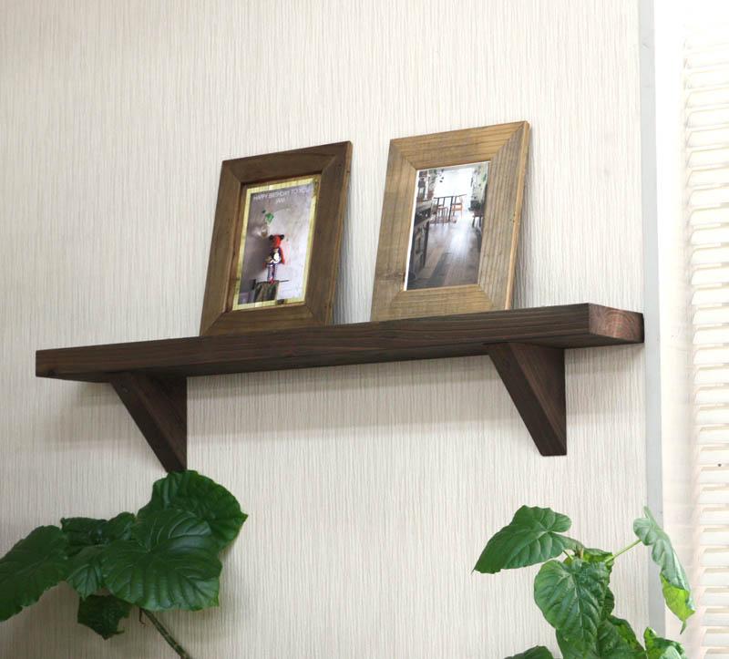 壁掛け飾り棚(ウォールシェルフ)◇国産杉 幅750mmの画像