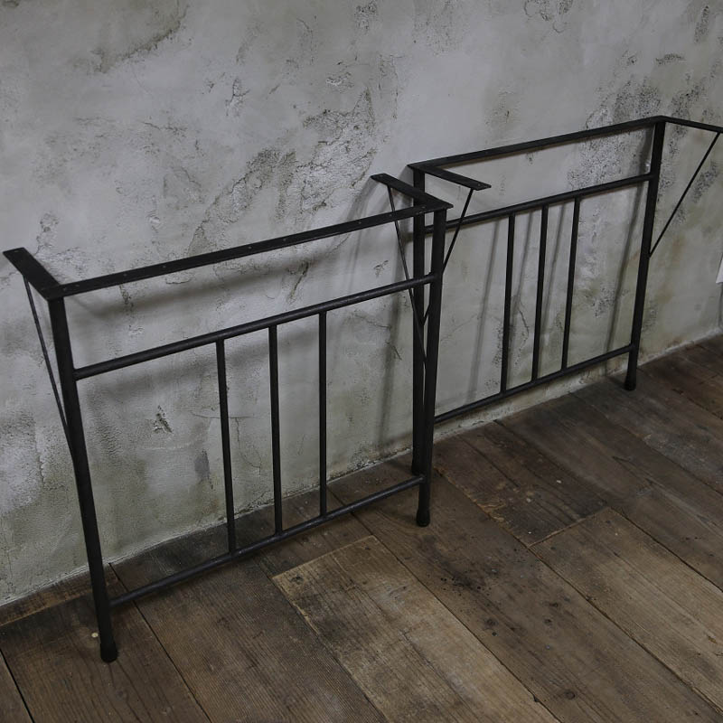 【鉄脚】アイアンテーブル脚 B型/2個セット(黒皮鉄クリア塗装)の画像
