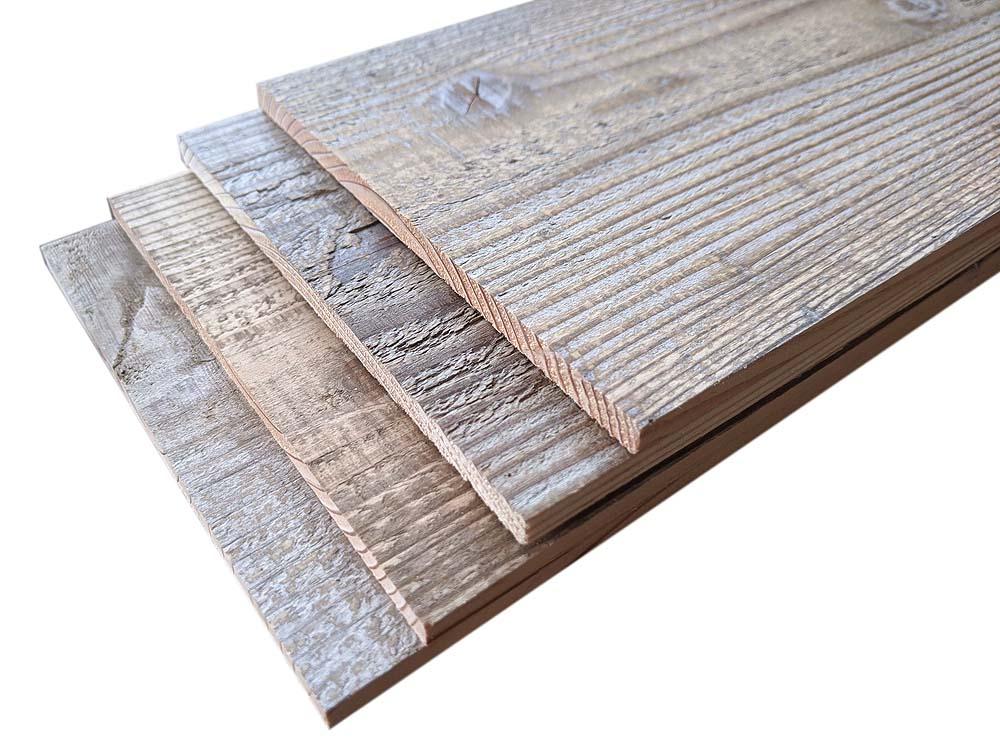 【3-7K-T-W140】 杉幅木(中古) 7mm厚/基本仕上げ(1面磨き)/鉄サビ塗装[幅140] 厚7×幅140×長さ1900〜2000mm 12枚入/セット(3.36平米)画像