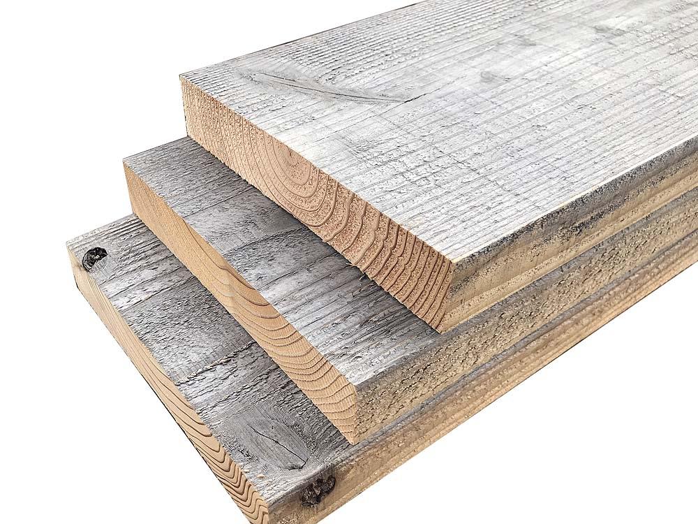 【2-35R】杉足場板(ナチュラルエイジング) 35mm厚/ラフ仕上げ 厚35×幅200×長さ1900mm 5枚入/セット(1.9平米)画像
