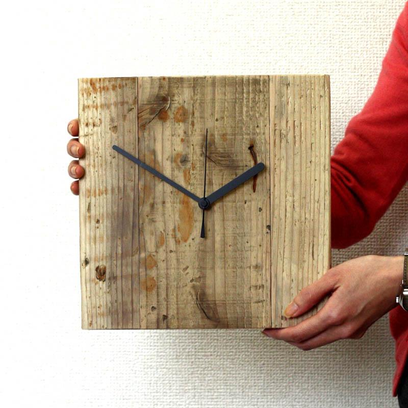 OLD ASHIBA(足場板古材)掛け時計の画像
