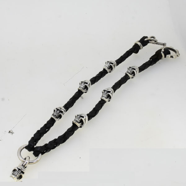 Leather Wallet Chain -Skull HT-の画像
