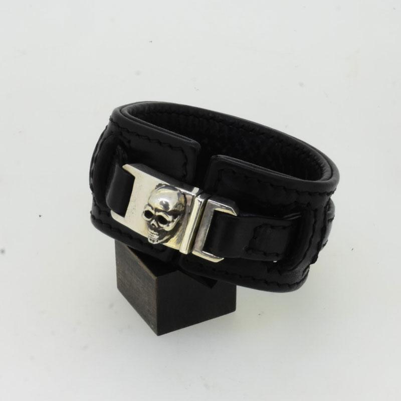 Quick Skull Leather Bracelet画像