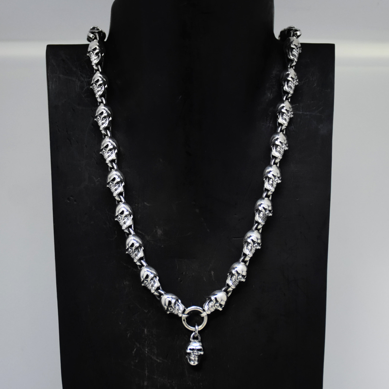Smile Of Victory Small Skull Necklessの画像
