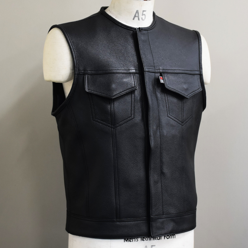 OUTLAW CLUB VEST -LEATHER-  1画像
