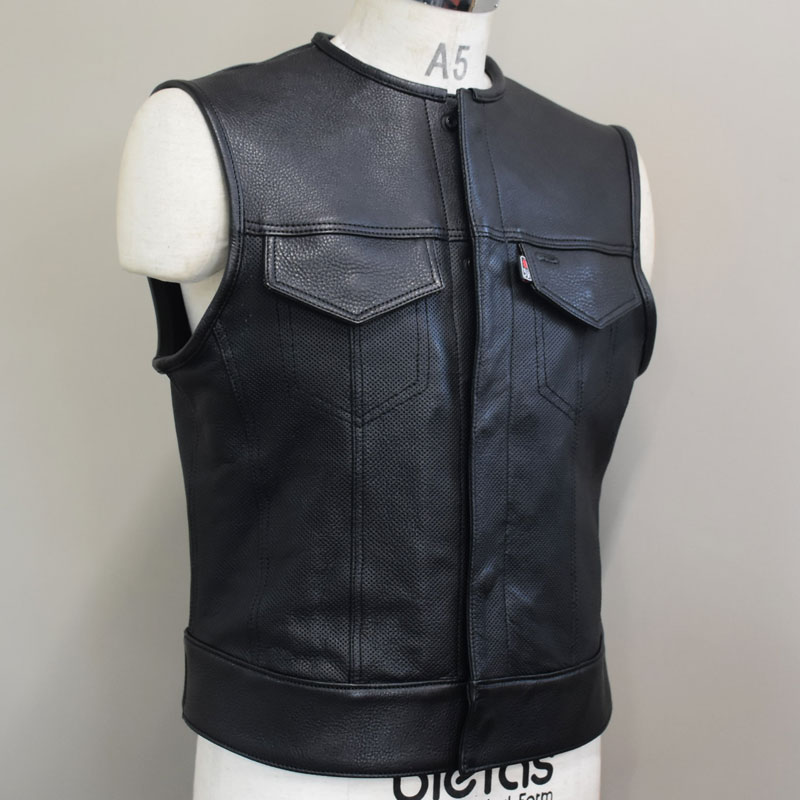 OUTLAW CLUB VEST -LEATHER-  2の画像